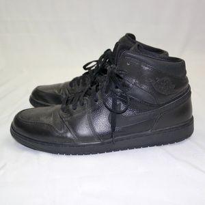 Nike Air Jordan Brand Retro 1 Mid Black Sz 13